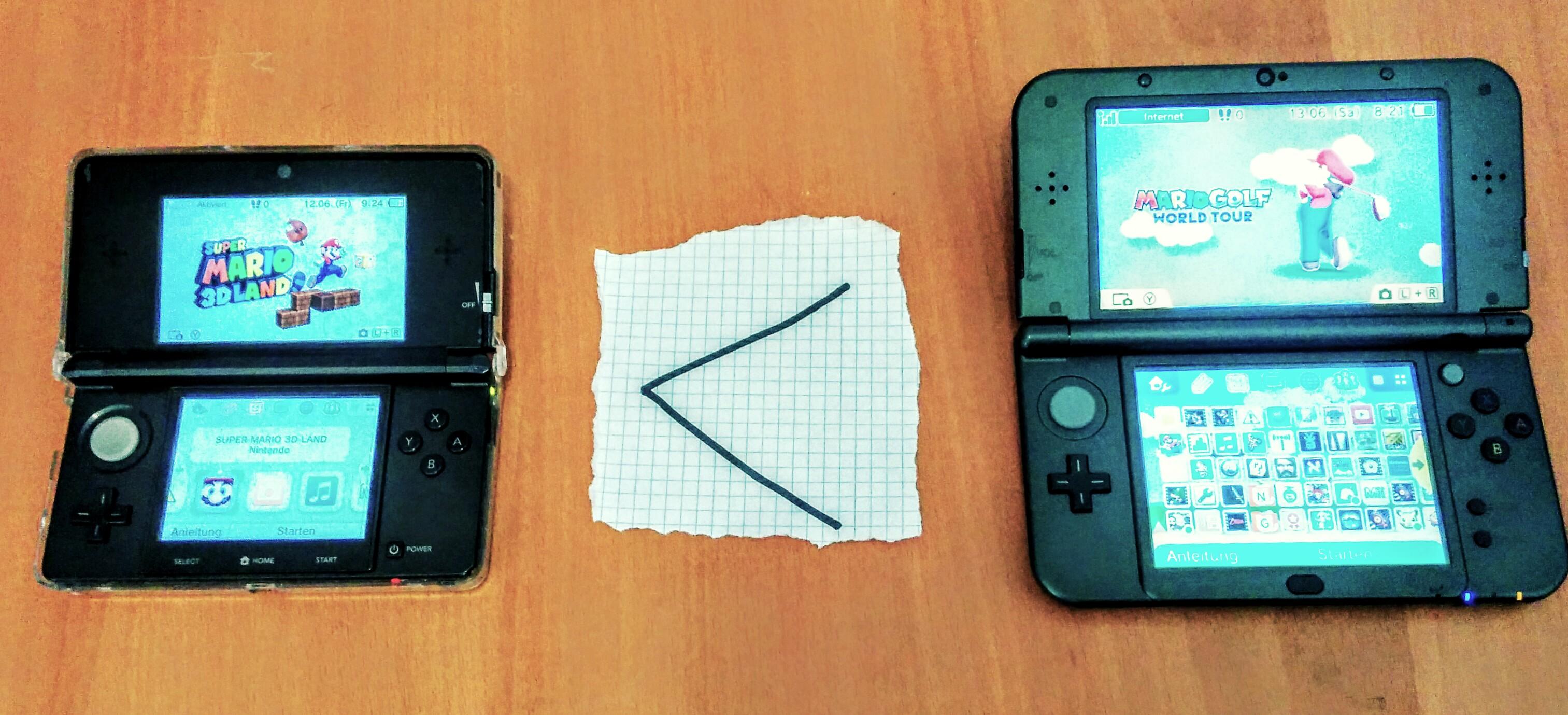 3DS klein / groß mit Operator