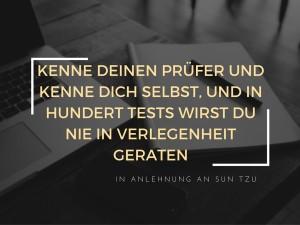 Prüfung schaffen